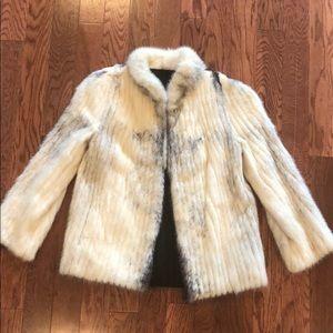 Jackets & Blazers - Vintage Real Coyote Fur Coat